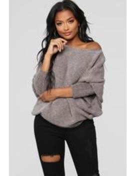 Diana Crew Neck Dolman Sweater   Grey by Fashion Nova
