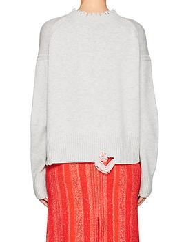 Distressed Wool Cashmere Sweater by Helmut Lang