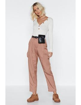Gather Together High Waisted Pants by Nasty Gal