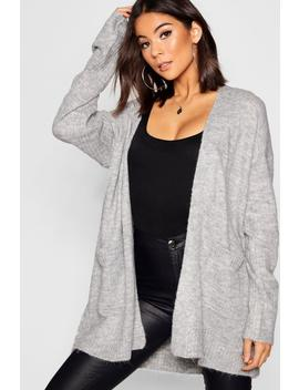 Knit Cardigan With Pockets by Boohoo