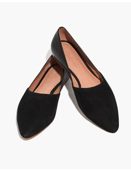 The Lizbeth Flat In Leather And Suede by Madewell