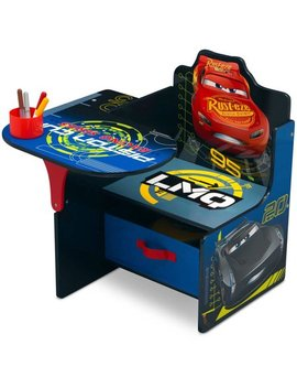 Disney Pixar Cars Toddler Desk Chair With Storage Bin by Disney