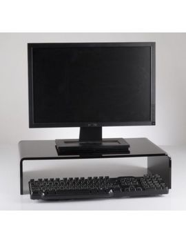 Acrylic Monitor Stand /    Perspex® Computer Screen Riser Shelf Black/White by Ebay Seller
