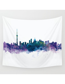 Toronto Skyline Wall Tapestry by