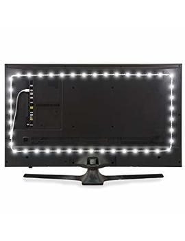 """Power Practical Luminoodle Usb Bias Lighting   Large (9.8 Feet, 30"""" To 40"""" Tv)   6500 K Led Backlight Strip, Ambient Home Theater Light, Accent Lighting To Reduce Eye Strain, Improve Contrast   White by Power Practical"""