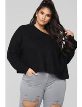 Don't Get Too Chilly Sweater   Black by Fashion Nova