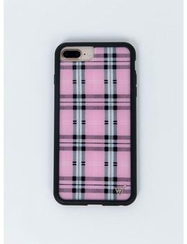 Wildflower Pink Plaid I Phone 6/7/8 Plus Case by Wildflower