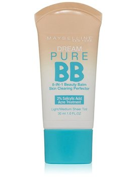 Maybelline Dream Pure Bb Cream, Light/Medium, 1 Fl. Oz. (Packaging May Vary) by Maybelline New York