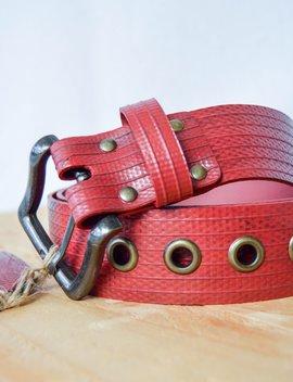 Red British Fire Hose Belt by Etsy