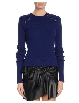 Koyle Ribbed Button Trim Sweater by Etoile Isabel Marant