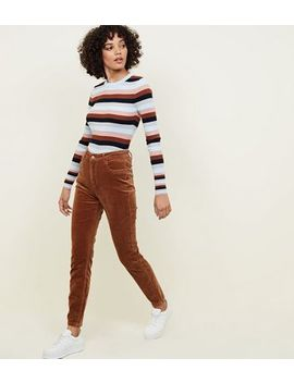Camel Corduroy High Rise Skinny Dahlia Jeans by New Look