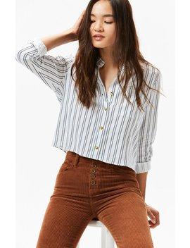 Kendall & Kylie Linen Button Down Shirt by Pacsun