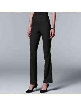 Women's Simply Vera Vera Wang Ultra Stretch Bootcut Pants by Kohl's