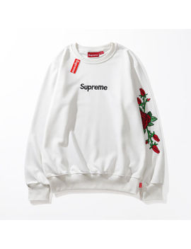 2018 New Off White X Supreme New Men Women Hooded Flower Hoodies Sweatshirts by Off White