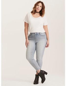 Premium Stretch High Rise Curvy Skinny Jeans   Light Denim by Torrid
