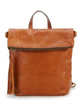 Luzille Tasseled Woven Convertible Backpack by Patricia Nash