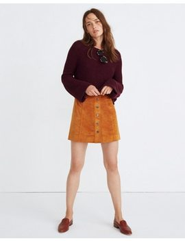 Velveteen A Line Mini Skirt: Button Front Edition by Madewell