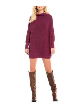 Ottoman Slouchy Mock Neck Tunic Sweater by Free People