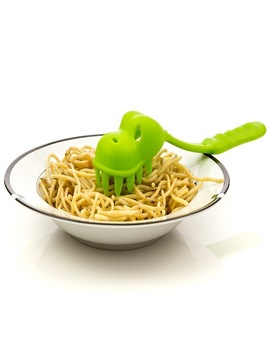 Creative Dinosaur Pasta Scoops Noodle Spoon Dinosaur Skull Tooth Shape Pp Material Handle Spaghetti Spoon Cooking Tools D0194 by Wsryxxsc