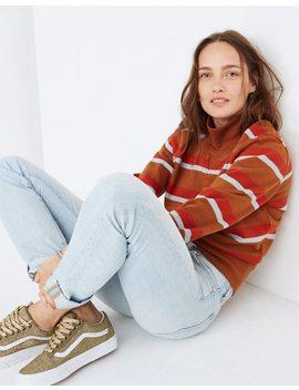 Turtleneck Sweatshirt In Stripe by Madewell