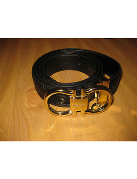 Salvatore Ferragamo  Reversible Black Belt Size 46/115 by Ebay Seller
