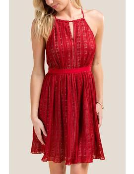 Eliana Lace Halter Dress by Francesca's