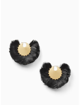 In Full Feather Hoops by Kate Spade