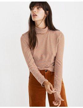 Whisper Cotton Turtleneck In Daniela Stripe by Madewell