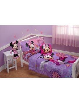 Disney 4 Piece Minnie's Fluttery Friends Toddler Bedding Set, Lavender by Disney