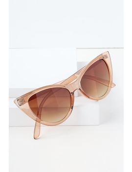 Check Meow T Beige Cat Eye Sunglasses by Lulus
