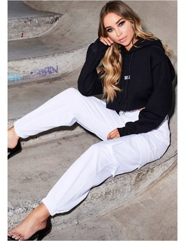 Jackie White Cargo Trousers by Missy Empire