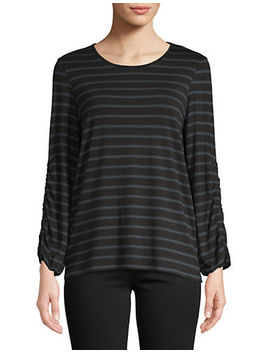 Striped Long Sleeve Top by Lord & Taylor
