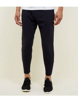 Navy Cropped Joggers by New Look