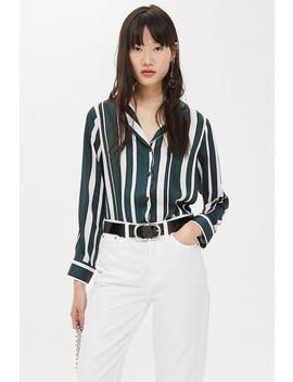 Stripe Pj Style Shirt by Topshop