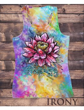 Womens Vest Top, Beautiful Lotus Tropical Floral Zen Ethical Print Sub837 by Etsy