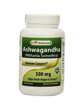 Best Naturals Ashwagandha Capsules For Relaxing Stress And Mood, 500 Mg, 120 Count by Best Naturals
