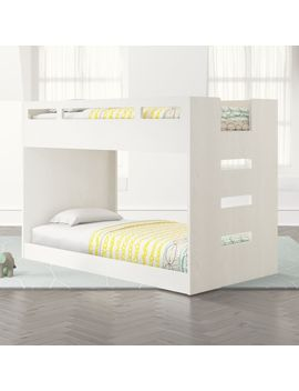 Abridged White Glaze Low Twin Bunk Bed by Crate&Barrel