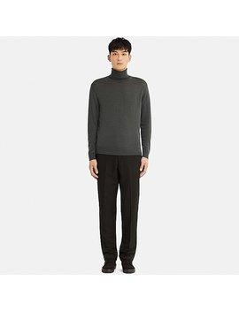 Men Uniqlo U Extra Fine Merino Turtle Neck Long Sleeve Sweater by Uniqlo