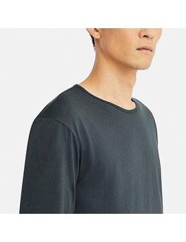 Men Uniqlo U Supima Cotton Crew Neck Long Sleeve T Shirt by Uniqlo