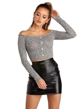 Get Stylish With Knit Crop Top by Windsor