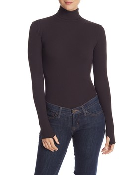 That Classic Girl Rib Knit Turtleneck Bodysuit by Free People