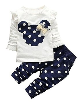 Cute Toddler Baby Girls Clothes Set Long Sleeve T Shirt And Pants Kids 2pcs Outfits by Avidqueen