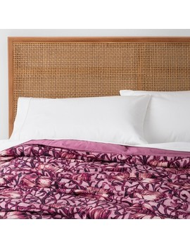 Love In A Mist Printed Velvet Quilt   Opalhouse™ by Shop Collections