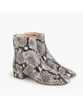 Cap Toe Ankle Boots In Faux Snakeskin by J.Crew