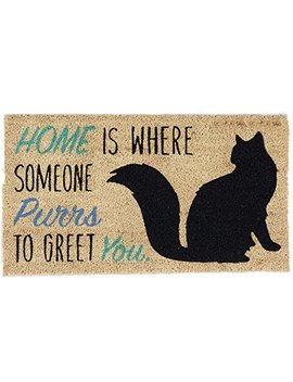 Dii Indoor/Outdoor Natural Coir Easy Clean Rubber Non Slip Backing Entry Way Doormat For Patio, Front Door, All Weather Exterior Doors, 18 X 30   Home Cat by Dii