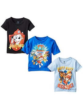 Nickelodeon Boys' Paw Patrol Pack Of Three T Shirts by Nickelodeon
