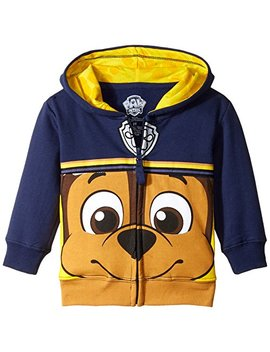 Nickelodeon Boys' Toddler Paw Patrol Character Big Face Zip Up Hoodies, by Nickelodeon