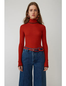 Fitted Turtleneck Brick Red by Acne Studios