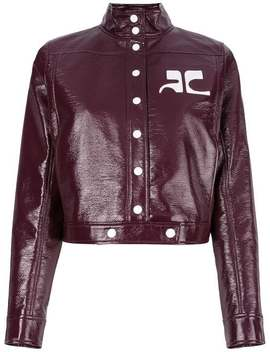 Courrègespatent Cropped Jackethome Women Courrèges Clothing Cropped Jackets by Courrèges