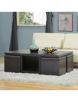Baxton Studio Prescott 5 Piece Modern Table & Stool Set by Kohl's